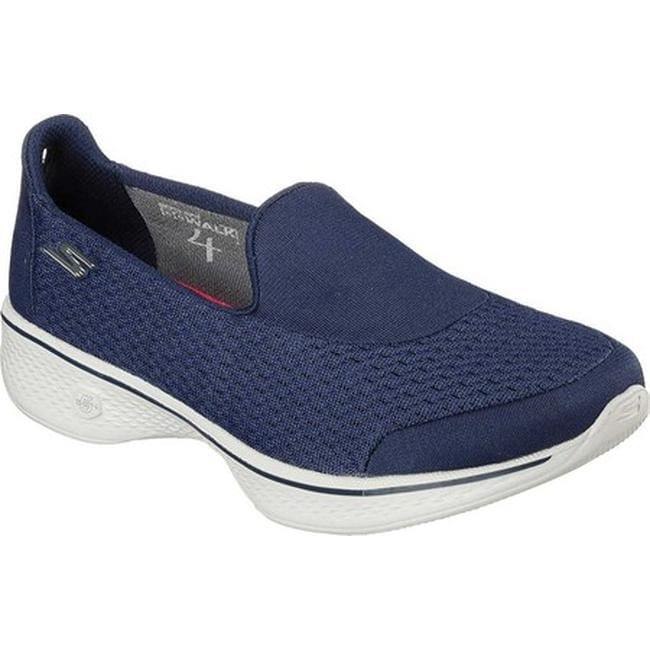 f356ea3f232b4 Shop Skechers Women's GOwalk 4 Pursuit Slip On Walking Shoe Navy/Gray -  Free Shipping Today - Overstock - 12010612