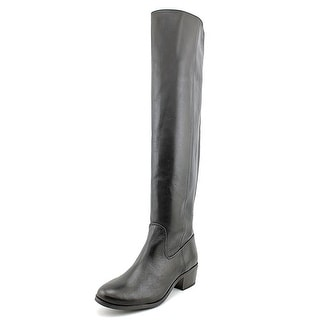 INC International Concepts Beverley Round Toe Leather Over the Knee Boot