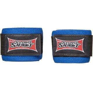 Sling Shot Multipurpose Level 2 Elastic Weight Lifting Support Wraps - Blue