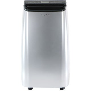 Amana AMAP101AW 10,000 BTU Portable Air Conditioner with Remote Control in Silver/Gray - Silver