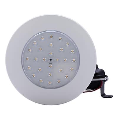"4"" 8W Dimmable Downlight Clear Lens/ Color Trim 2700K LED Flush Mount"