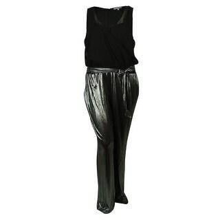 NY Collection Women's Sleeveless Surplice Jumpsuit