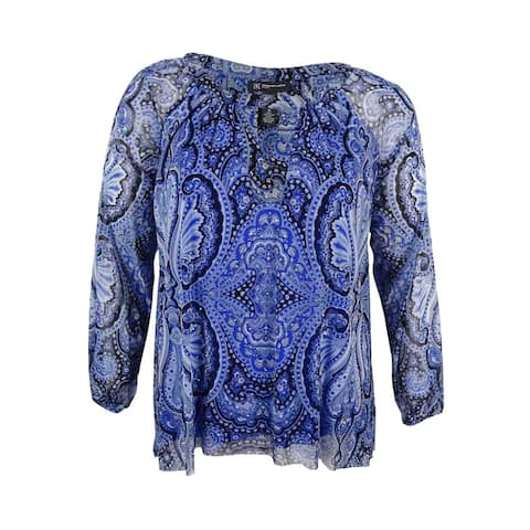 0a43bd20b9e INC International Concepts Women's Plus Size Cold-Shoulder Blouse - Pagoda  Paisley