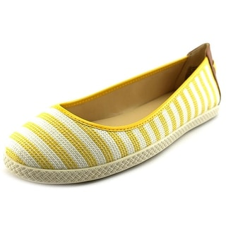 Nine West Royalli Women Round Toe Canvas Yellow Flats