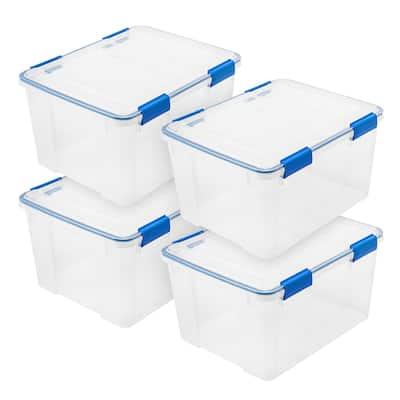 44 Qt. WEATHERTIGHT Storage Box in Clear (4-Pack)
