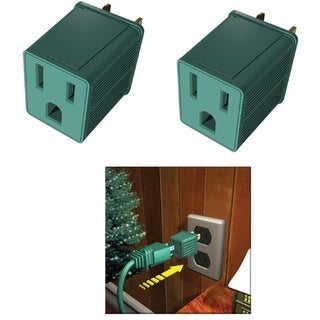 Westinghouse Pack of Green 2 Plug Adapters - 3-Prong to 2-Prong Plug