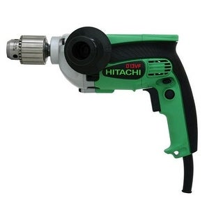 "Hitachi D13VF Electric Drill - 1/2"",9.0 Amp"
