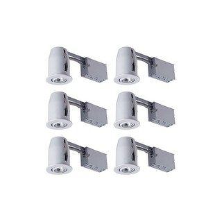 """Canarm RN3RC1-6C 3"""" GU10 Adjustable Trim Integrated Recessed Fixture - Pack of 6 - White - N/A"""