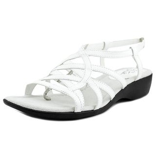 Life Stride Tandie Women W Round Toe Synthetic White Slingback Sandal