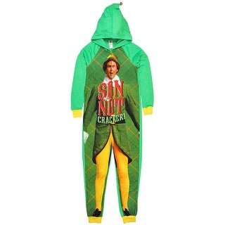 Buddy the Elf Women's Son of a Nutcracker Pajama Union Suit One Piece Sleepwear