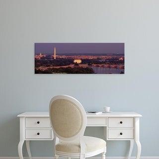 Easy Art Prints Panoramic Images's 'USA, Washington DC, aerial, night' Premium Canvas Art