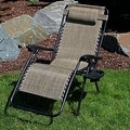 Sunnydaze Oversized Zero Gravity Lounge Chair with Pillow and Cup Holder - Thumbnail 79
