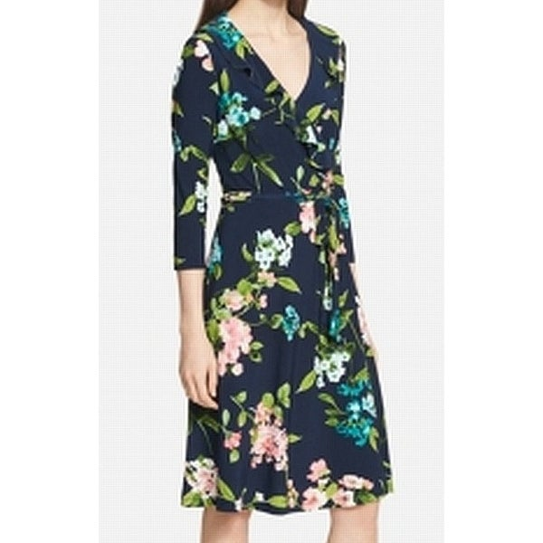 0e20b1a98fc Shop Tommy Hilfiger Womens Floral Print Ruffle Wrap Dress - Free Shipping  Today - Overstock - 26996238