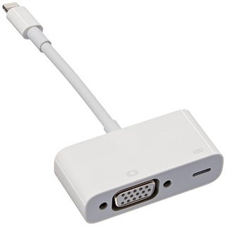 Apple Lightning to VGA Adapter for Apple iPhones / iPads (White)