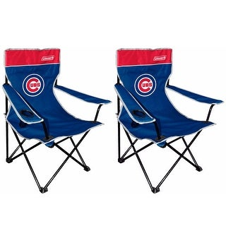 Coleman MLB Chicago Cubs Broadband Quad Chair (2 Pack) - Multi-color