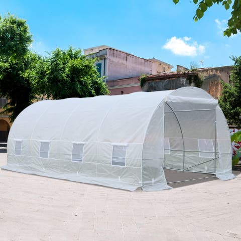 Outsunny Freestanding High Tunnel Walk-In Garden Greenhouse Kit