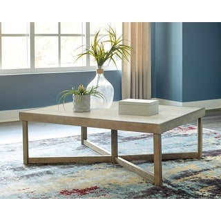 "Link to Challene Light Gray Rectangular Cocktail Table - 52""W x 36""D x 18""H Similar Items in Living Room Furniture"