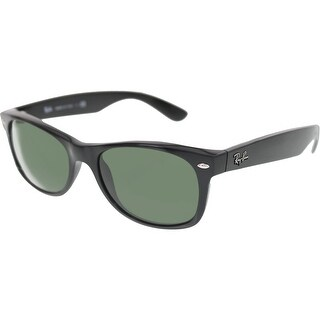 Ray-Ban Men's New Wayfarer RB2132-901-52 Black Wayfarer Sunglasses