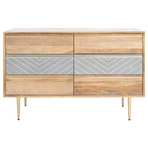 SAFAVIEH Couture Leni Cement 6-Drawer Dresser