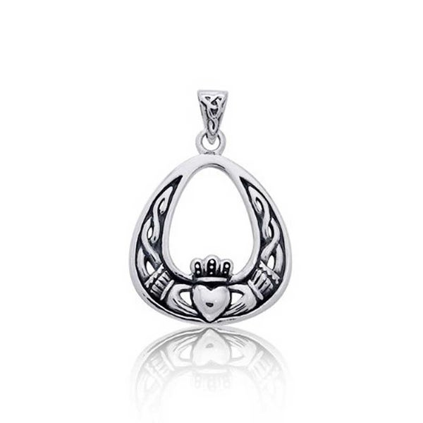 dd0391c0c6e5e Shop Celtic Knot Claddagh Irish Friendship Antiqued Pendant 925 Sterling Silver  Necklace For Women 18 In Chain - On Sale - Free Shipping On Orders Over  45  ...