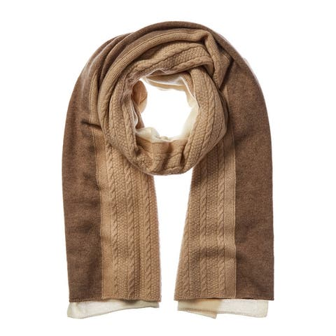 In2 By Incashmere Cahshmere Cable Stitch Scarf