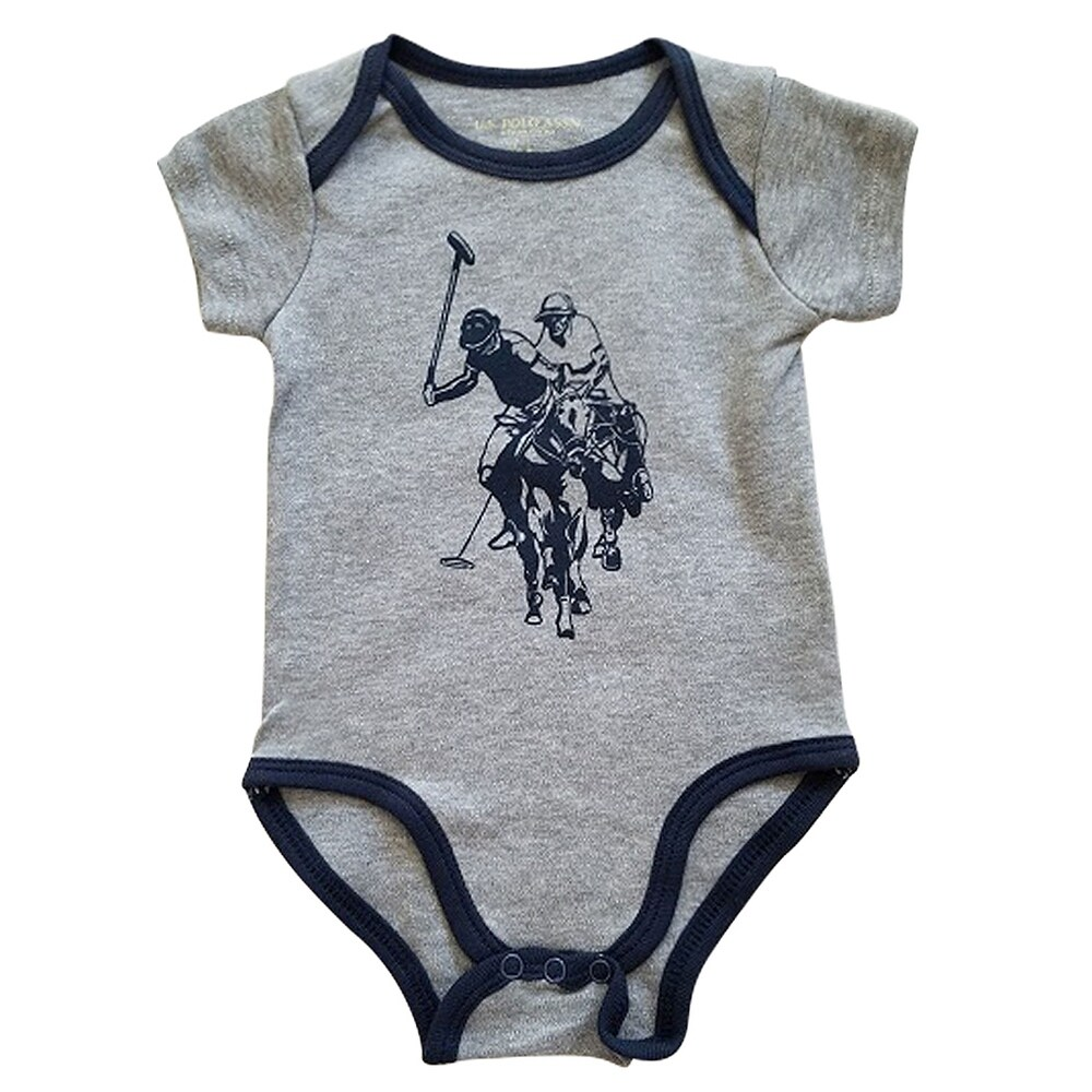 KNKN Springbok Cable Romper Baby Boys Girls Bodysuit Comfy Jumpsuit T Shirt for Baby Gray