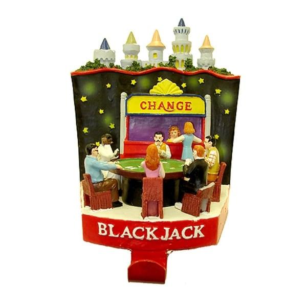 """6.25"""" Casino Gambling Blackjack Table Christmas Stocking Holder"""