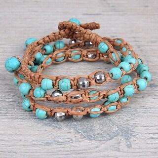 Mad Style Turquoise Callie Wrap Bracelet