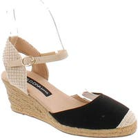 Wild Diva Sally-02 Women's D'orsay Ankle Strap Espadrille Platform Wedge Pumps
