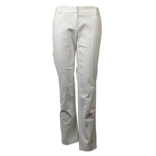 Laundry by Shelli Segal Women's Solid Straight Leg Dress Pants - Optic White