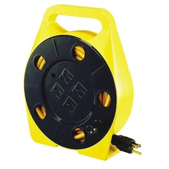 Shop Power Zone Orcr220625 Quad Tap Cord Reel 25 4