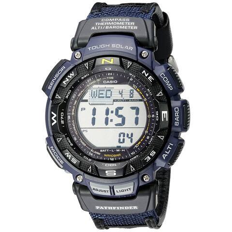 Casio Men's Pathfinder Triple Sensor Multi-Function Sport Watch Blue Nylon Strap