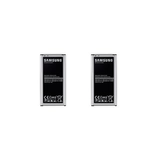 Black Samsung Battery Designed for Specific Use with Samsung Galaxy S5 Smartphones (Two Batteries)