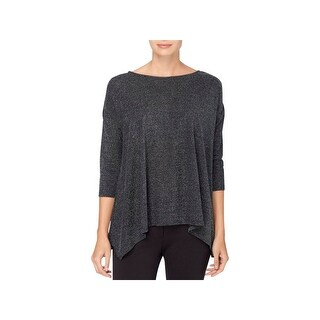 Catherine Malandrino Womens Sharkie Blouse Metallic 3/4 Sleeves (2 options available)