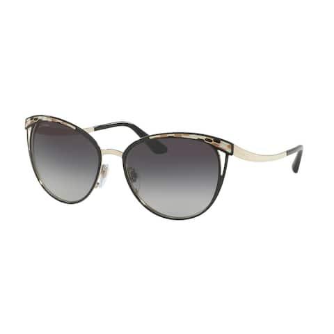 Bvlgari BV6083 20188G 56 Black/pale Gold Woman Phantos Sunglasses