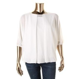 MSK Women Womens Plus Blouson Embellished Blouse - 3X