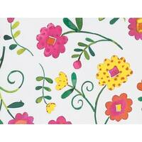 "Pack Of 1, 24"" x 417' Bright Blooms Gift Wrap Counter Roll For 175 -200 Gifts Made In Usa"