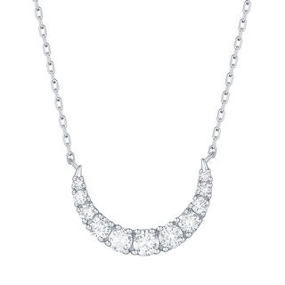 Smiling Rocks 0.42Ct G-H/VS1 Lab Grown Diamond Moon Necklace