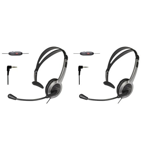 KX-TCA430 Foldable Over the Head Headset (2-Pack) for Uniden Phones