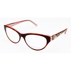 Judith Leiber Sea Garland Eyeglasses Red Pink