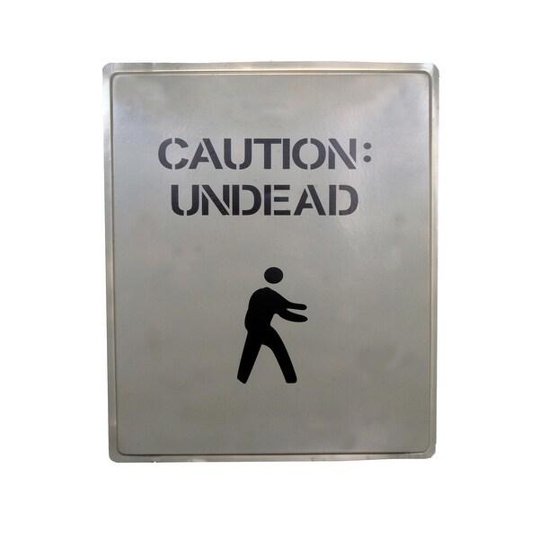 """19 x 16"""" Caution Undead Sign Halloween Prop Indoor & Outdoor"""