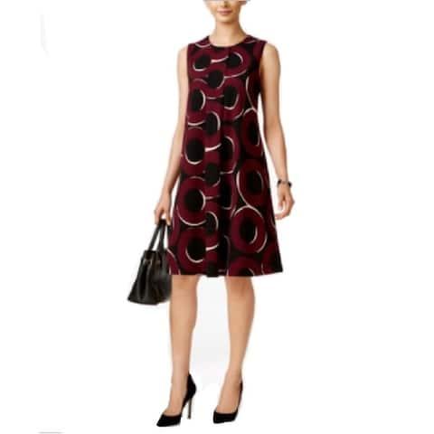 Alfani Petite's Sleeveless Swing Dress, Multi Print (6P) - 6P