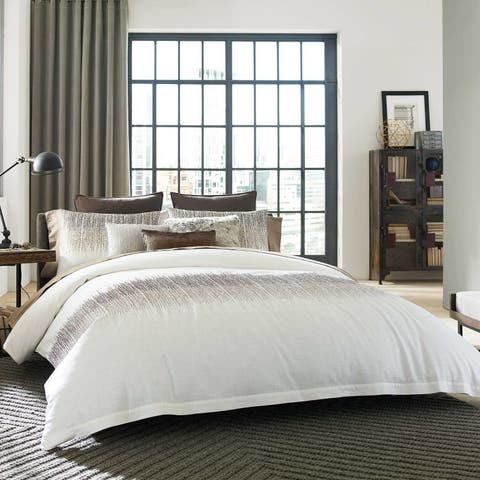 Kenneth Cole Reaction Home Etched Duvet Cover in Ivory