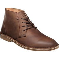Nunn Bush Men's Galloway Plain Toe Chukka Boot Tan Crazy Horse Leather