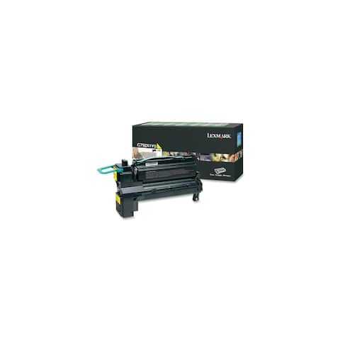 Lexmark C792X1YG Lexmark C792X1YG Extra High Yield Return Program Toner Cartridge - Yellow - Laser - 1 / Each - OEM