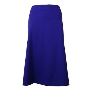 Calvin Klein Women's Solid Flare Skirt - byzantine