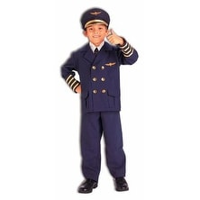 Childrens Official Airline Pilot Halloween Costume
