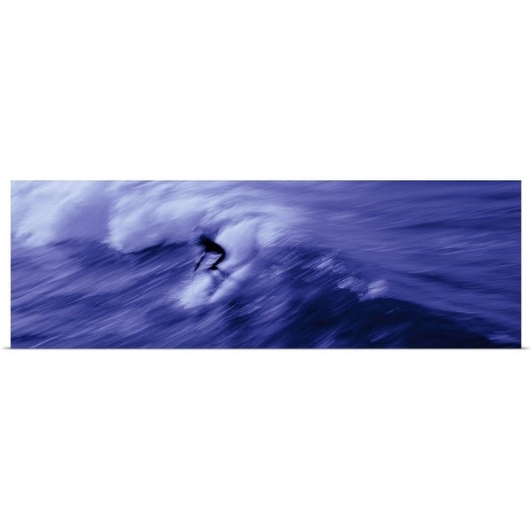 """""""Person surfing in the sea"""" Poster Print"""