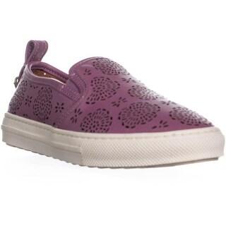 Coach C115 Perforated Slip On Sneakers, Primrose