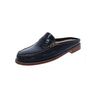 G.H. Bass & Co. Womens Loafers Patent Leather Mules - 6.5 medium (b,m)
